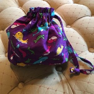 NWOT Bright Drawstring Beach Bag! Whales & Turtles